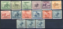 Ruanda Urundi Nr 62-76         Neuf Avec Charnière - Postfris ,met Plakker -MH    (x) - Ruanda-Urundi