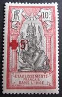 R3586/1176 - 1915 - CROIX ROUGE - COLONIES FR. - INDE - N°48 NEUF* - India (1892-1954)