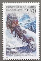 Andorre - YT N°516 - Moyen De Transport / Diligence  - 1999 - Neuf - Andorra Francesa