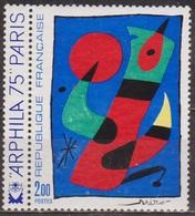 Art - Peinture - FRANCE - Tableau De Joan Miro - Arphila 75 - N° 1811 ** - 1974 - Nuevos