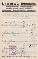 Rechnung  E. Bösiger A.G. Herzogenbuchsee, , Mit Fiskalmarke, 1927 - Suisse