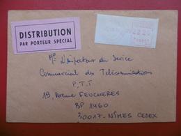 LETTRE DISTRIBUTION PAR PORTEUR SPECIAL MARSEILLE St JUST A NIMES 1967 - 1961-....