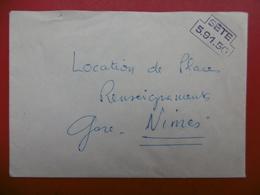 LETTRE GRIFFE SETE S N C F MÉDITERRANÉE SETE 1973 - Postmark Collection (Covers)