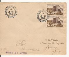 ENVELOPPE PREMIER JOUR EXPOSITION PHILATELIQUE CHATEAUDUN 1950 - FDC