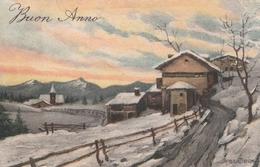 Cartolina - Postcard -  Viaggiata-   Sent  -  Buon Anno , Pittorica - Anno Nuovo