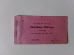 Carnet Vide De 10 Billets Pour Aller Simple De Hälsingborg-Helsingor ( Suède ) - Titres De Transport
