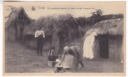 CP1026 Congo Le Missionnaire Rend Visite Aux Malades Dans Un Village De Missionaris Bezoekt De Zieken Op Een Inlandsch - Autres