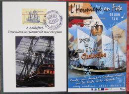 FRANCE - 2008 - L HERMIONE - CARTE 1er Jour + Carte Postale L'hermione En Fête - 2000-2009