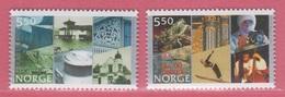 2002 ** (sans Charn., MNH, Postfrish)  Yv  1379/80Mi  1436/7NHK  1471/2 - Norvège