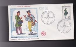Enveloppe 1er Jour  80 AMIENS  ( 8 Avril 1967 ) - Autres Collections