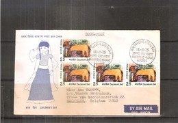 FDC From India To Belgium - Chilfren's Day 1975 (to See) - FDC