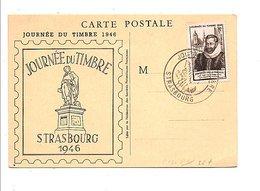 OBLITERATION JOURNEE DU TIMBRE STRASBOURG 1946 - Marcophilie (Lettres)