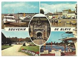 Blaye Souvenir De Blaye De Gauche à Droite Multivues - Blaye