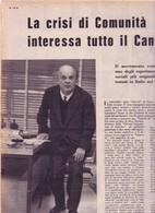 (pagine-pages)ADRIANO OLIVETTI   Settimogiorno1958/43. - Libri, Riviste, Fumetti