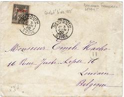 Enveloppe De BEYROUTH (SYRIE)  à LOUVAIN (BELGIQUE) 1902 - Bureaux Français Du Levant - Syrie