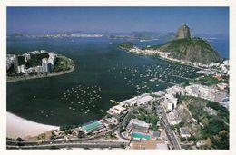 1 AK Brasilien * Blick Auf Rio De Janeiro - Sugar Loaf - Zuckerhut Und Die Botafogo Beach - Luftbildaufnahme * - Rio De Janeiro