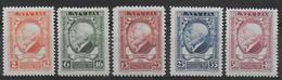 LETTONIE - YVERT N° 132/136 * MLH - COTE = 20 EUR. - Lettonie