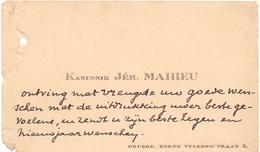 Visitekaartje - Carte Visite - Kanunnik Jér. Mahieu - Brugge - Cartes De Visite