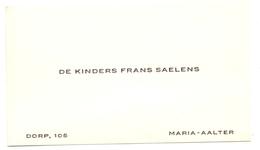 Visitekaartje - Carte Visite - Kinders Frans Saelens - Maria Aalter - Cartes De Visite