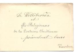 Visitekaartje - Carte Visite - Soeur Willibrorda - Vianden - Visitenkarten