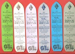 6 Anciens MARQUE-PAGES - Tous Différents - PAPIERS A LETTRES G.L. Paris G. LALO  - Librairies Cannes - Paris  - Signets - Segnalibri