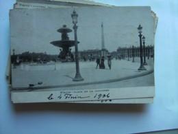 Frankrijk France Frankreich Parijs Paris La Place De La Concorde Vieux 1906 - Markten, Pleinen