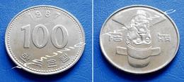 KOREA SOUTH 100 Won 1987 - ADMIRAL YI SOON-SHIN - Korea, South