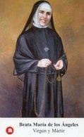Santino BEATA MARÍA DE LOS ÁNGELES Con RELIQUIA (Ex-Indumentis) Virgen Y Mártir - PERFETTO P100 - Religion & Esotérisme