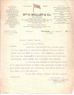 Wm H. Müller & Co. Transports. Own Lines Of Steamers Between Rotterdam London Aberdeen Bilbao Liège 1914 - Frankreich