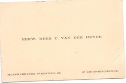 Visitekaartje - Carte Visite - E.H. C. Van Der Heyde - St Kruis Brugge - Cartes De Visite
