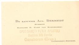 Visitekaartje - Carte Visite - Kanunnik Aug. Desmedt - Overste Basiliek Koekelberg - Ganshoren Brussel - Visitenkarten