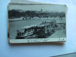 Frankrijk France Frankreich Parijs Paris Seine Au Pont Des Arts Bateaux Vieux - Frankrijk