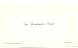 Visitekaartje - Carte Visite - Th. Brabants - Docx - Deurne - Cartes De Visite