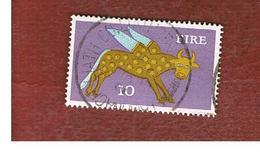 IRLANDA (IRELAND) -  SG 299  -    1971  STILYZED WINGED OX 10   - USED - 1949-... Repubblica D'Irlanda