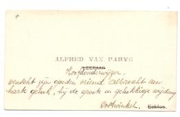 Visitekaartje - Carte Visite - Hoofdonderwijzer Alfred Van Parijs - Oostwinkel - Visitenkarten