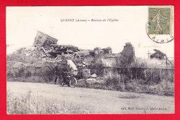 F-02-Quessy-01P88 Les Ruines De L'église, Animation, Voir La Vieille Moto, Cpa (état) - Unclassified
