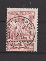 BELGIQUE N° 98 Oblitéré   Cote 8.00  Euros - 1910-1911 Caritas