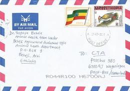 Ethiopia 2001 Bekoji Flag Woodpecker Cover - Ethiopië