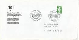 THEME EUROPE  PLAN ROBERT SCHUMAN  STRASBOURG 24/03/1990 - Cachets Commémoratifs