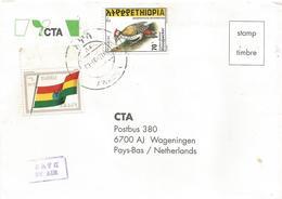Ethiopia 2000 Awassa Flag Woodpecker Cover - Ethiopië