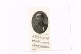 Davreux Maurice,Capitaine-Commandant.Officier D'ordonnance Du Roi,tué Au Cours D'une Reconnaissance. - Découpis