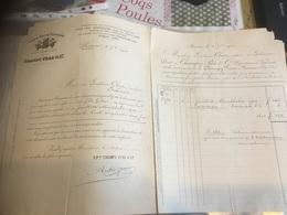 VINS CHAMPY ET PÈRE BEAUNE 1901 Pour Close à GEDINNE DOIBLE FACTURE À VOIR - Alimentaire