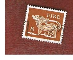IRLANDA (IRELAND) -  SG 350  -    1976  STILYZED DOG 8 - USED - 1949-... Repubblica D'Irlanda