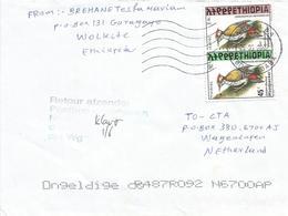 Ethiopia 2002 Addis Ababa Woodpecker Retour Afzender Handstamp Cover - Ethiopië