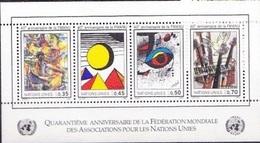 "UNO-Genf ONU Genève UNPA Geneva 1986: Zu 154 Mi Block 4 Yv BF 4 ""WFUNA"" ** MNH (Gomez Calder Miro Hamann) - Office De Genève"