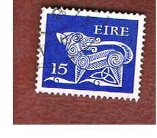 IRLANDA (IRELAND) -  SG 356a  -    1980  STILYZED DOG  15  - USED - 1949-... Repubblica D'Irlanda