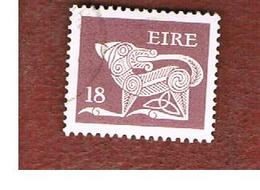 IRLANDA (IRELAND) -  SG 478  -    1981  STILYZED DOG  18  - USED - 1949-... Repubblica D'Irlanda