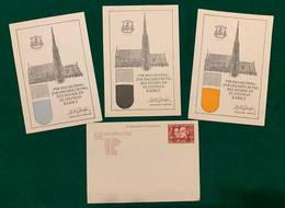 Wien, Stephansdom, 1949, 4 Postkarten, Für Den Beitrag Zur Dachdeckung Des Domes Zu St-Stephan Dankt - 1945-60 Briefe U. Dokumente