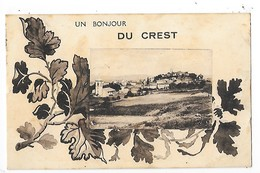 LE CREST   (cpa 63)   Un Bonjour Du Crest    -  L 1 - France