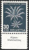 """Schweiz Suisse Svizzera: Pro Juventute 1946 Zu 120 Mi 478 Yv 436 ** MNH & Tab """"Alpen-Mannsstreu"""" (CHF 10.50) - Other"""
